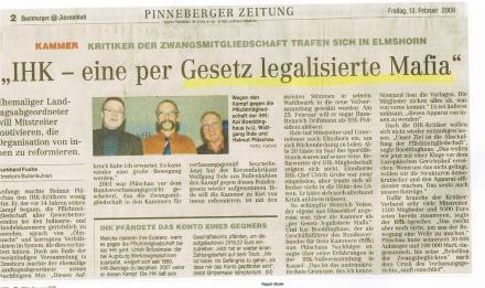 """Zwangsmitglied bezeichnet >IHK als """"gesetzlich legalisierte Mafia""""."""