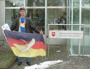 Niedersächsisches Wirtschaftsministerium-Bananen-Flagge